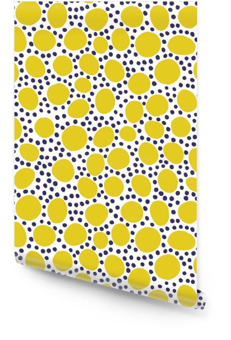 Sømløs mønster med moderne blomster og abstrakte elementer i friske pastellfarger. Rulletapet - Hobby og Fritid