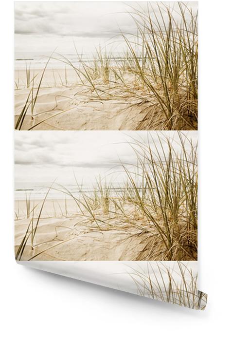 Wysokie trawy na plaży w zbliżeniu Tapeta w rolce - Przeznaczenia