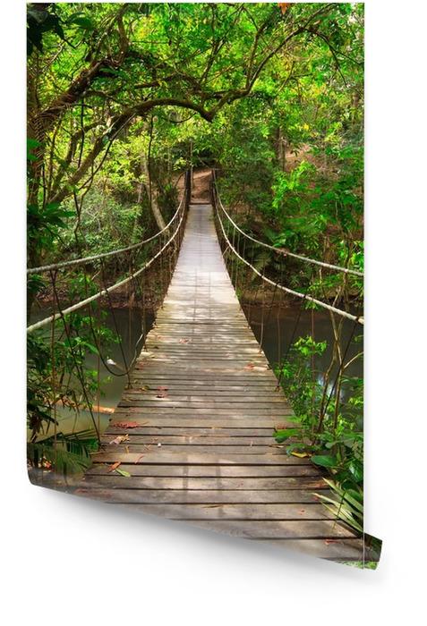 Most do dżungli, park narodowy Khao Yai, Tajlandia Tapeta w rolce -