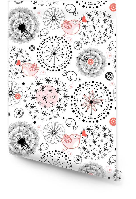 Ett mönster av silhuetter av maskrosor Rulltapet - Texturer