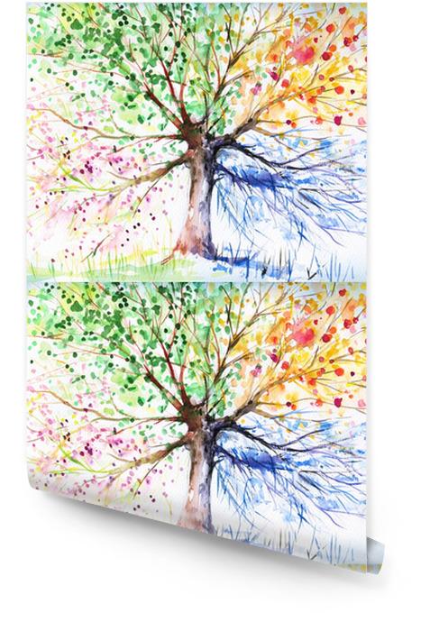 Drzewo czterech sezonów Tapeta w rolce -