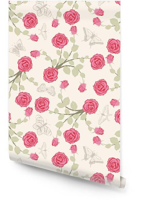 Patrón floral sin fisuras Rollo de papel pintado - Recursos gráficos