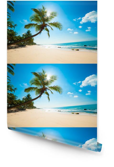Tropikalna plaża w słońcu Tapeta w rolce - Malediwy