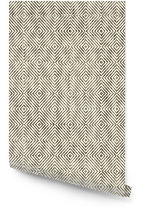Abstracte geometrische retro naadloze achtergrond Behangrol - Achtergrond