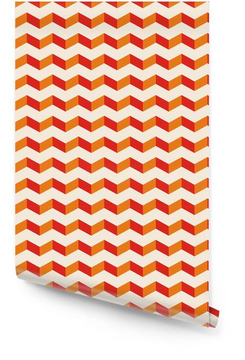 Aztec Chevron sommer vektor sømløs mønster tekstur baggrund Tapetrulle - Baggrunde