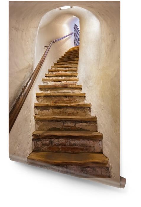 Schody w zamku Kufstein - Austria Tapeta w rolce - Style