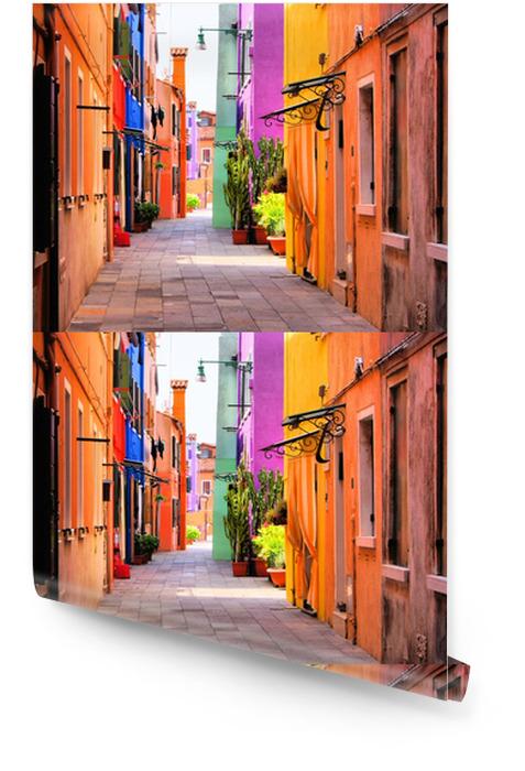 Kolorowa ulica we Włoszech Tapeta w rolce -