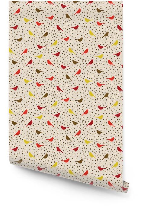 Fugler sømløs mønster. Fargerik tekstur Rulletapet - Styles