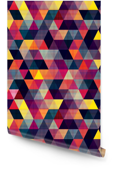 seamless triangle background Wallpaper roll - Geometry