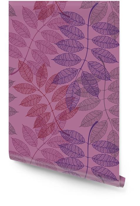 Naadloos patroon van Rowan bladeren Behangrol - Landschappen