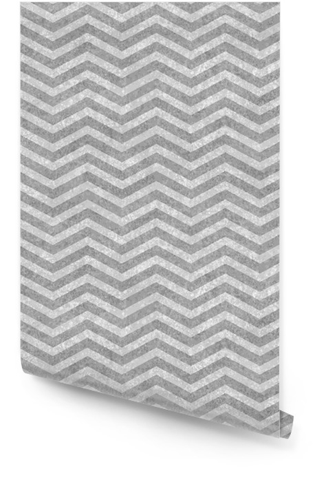 Gray Zigzag Textured Fabric Background Wallpaper roll - Celebrations