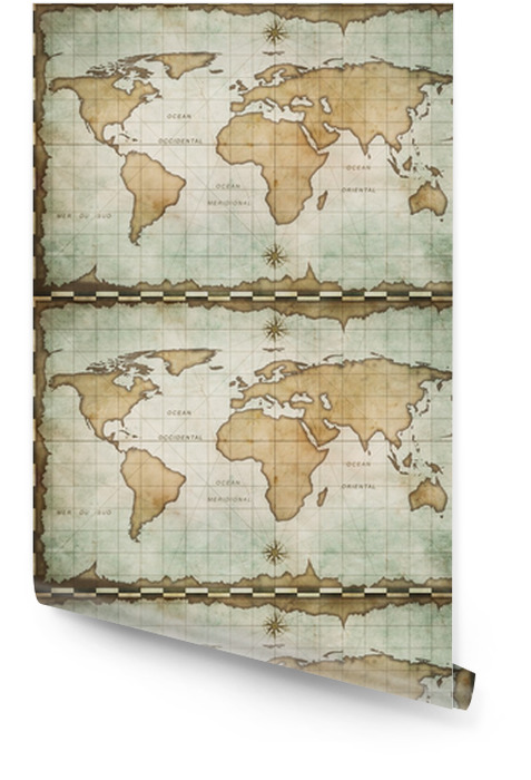 Aged Old World Map Wallpaper Roll Pixers We Live To Change