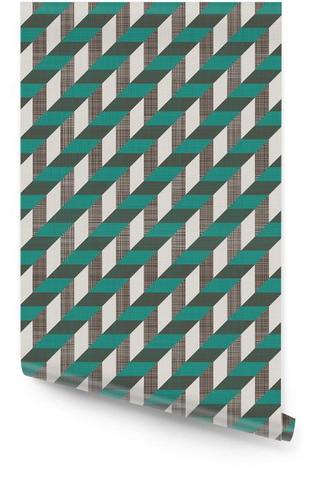 Szwu retro wzór z linii ukośnych Tapeta w rolce - Tła