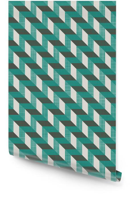 Sømløs retro mønster med diagonale linjer Rulletapet - Bakgrunner