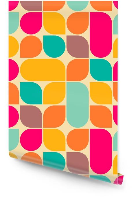 Retro abstrakcyjne powtarzalne Tapeta w rolce - Style