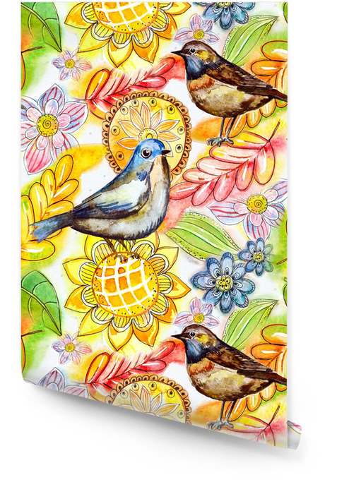 Akwarela abstrakcyjna powtarzalny tekstury Tapeta w rolce - Sztuka i twórczość
