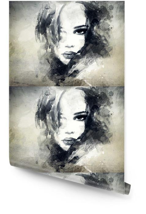 Abstrakcyjny portret kobiety Tapeta w rolce -