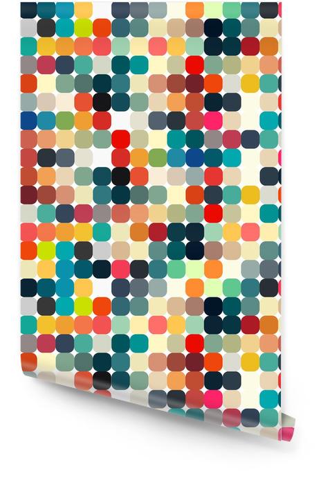 Abstrakcyjne geometryczne retro wzór dla projektu Tapeta w rolce - Style