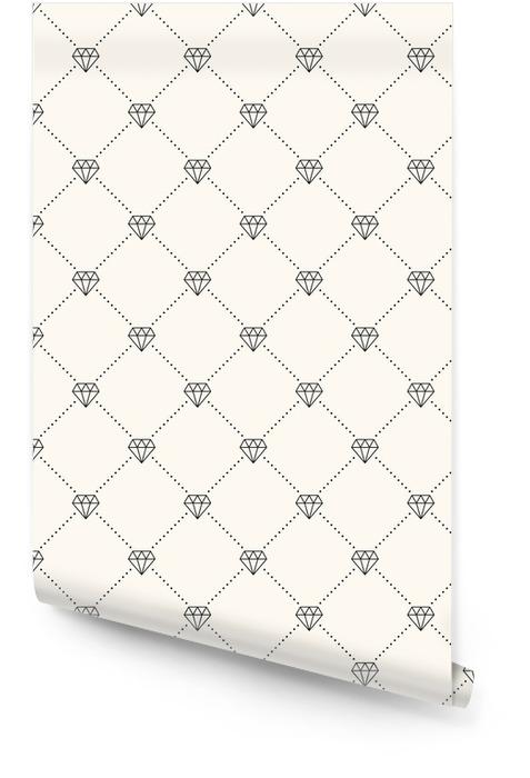 Vector naadloze retro patroon, met diamanten. Behangrol -
