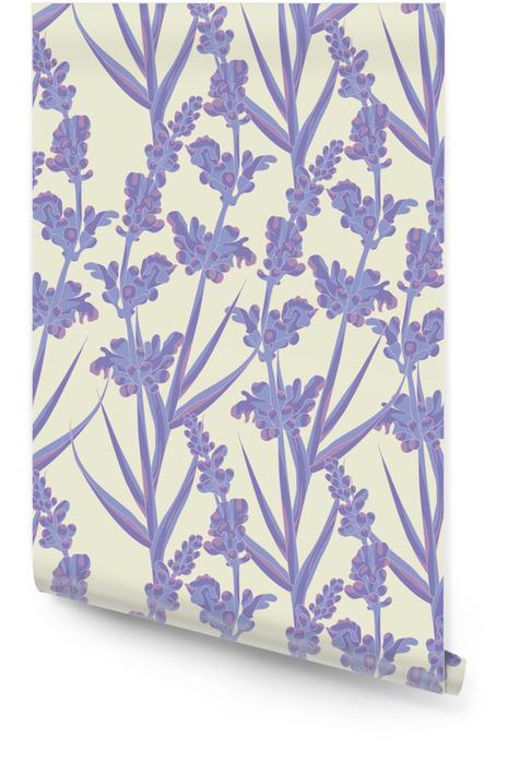 Patrón transparente Lavender Rollo de papel pintado - Flores