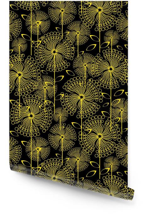 Pissenlits jaunes fleurs, seamless Rouleau de papier peint - Arrière plans