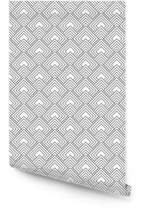 Grijze vierkante tegels herhalen Patroon Achtergrond Behangrol -