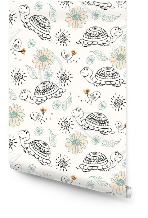 Seamless pattern Rollo de papel pintado - Animales fantásticos