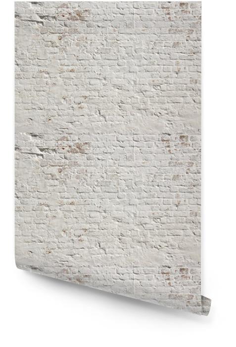 Blanco grunge ladrillo la pared de fondo Rollo de papel pintado - Estilos