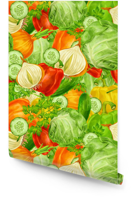 Warzywa wymieszać bezszwowe tło Tapeta w rolce - Przemysł