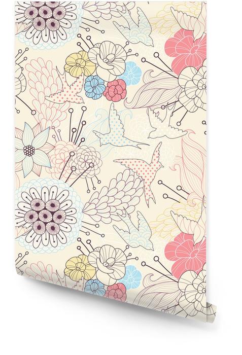Patrón floral sin fisuras Rollo de papel pintado - Destinos