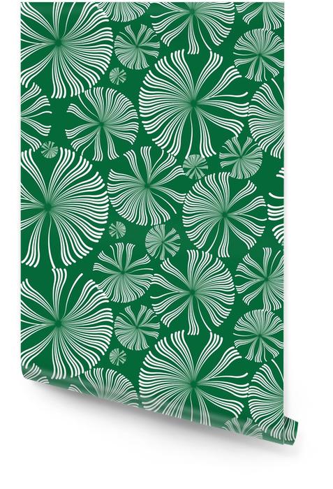 Modèle sans couture de fleurs blanches pissenlits Rouleau de papier peint - Ressources graphiques