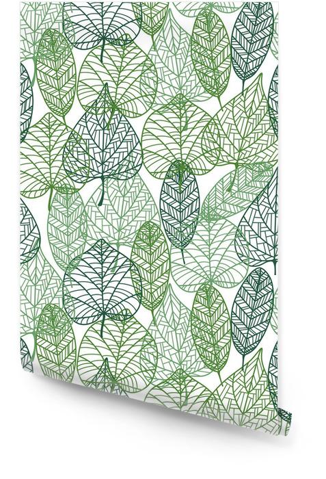 Grüne Blätter nahtlose Muster Tapetenrolle - Stile