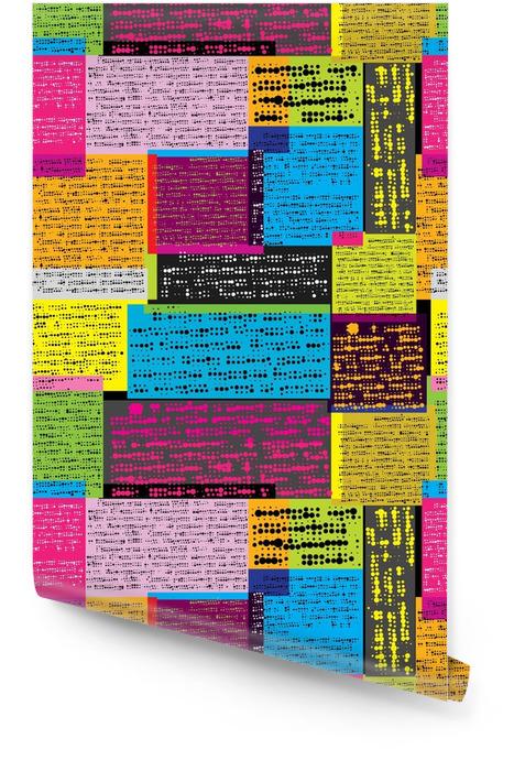 Kleuren krant patroon Behangrol - Business
