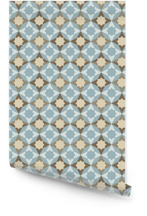 Streszczenie retro geometryczny wzór Tapeta w rolce - Tła