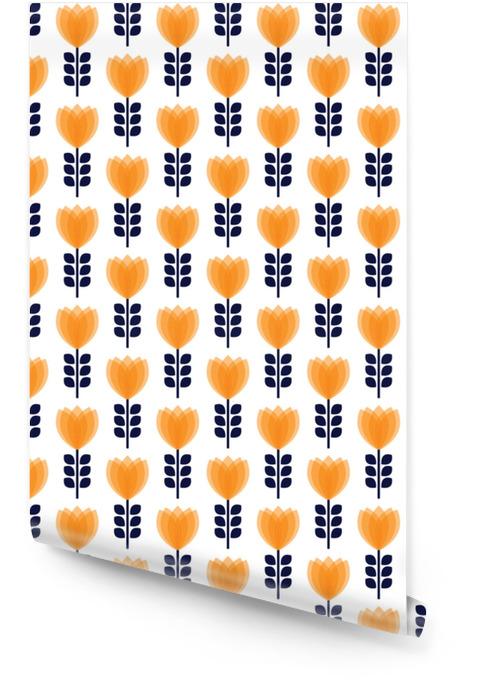 Vintage abstrakt blomst sømløst mønster Rulletapet - Hobby og Fritid