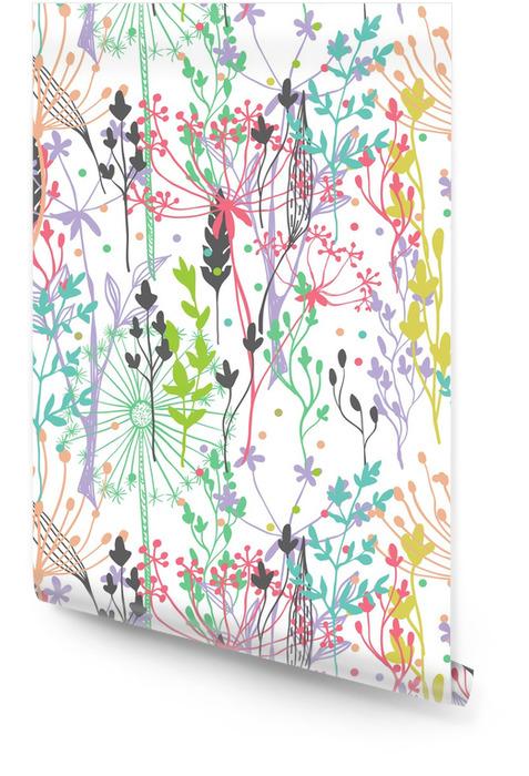 Hermoso color hierba silueta Rollo de papel pintado - Estilos