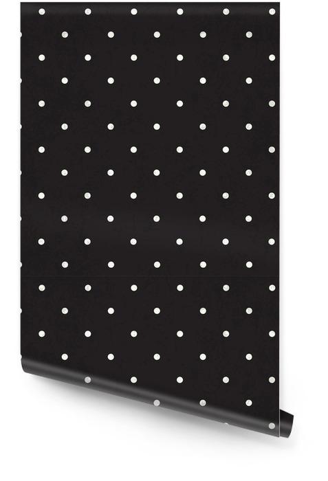 Czarny polka dot tle Tapeta w rolce - Zasoby graficzne