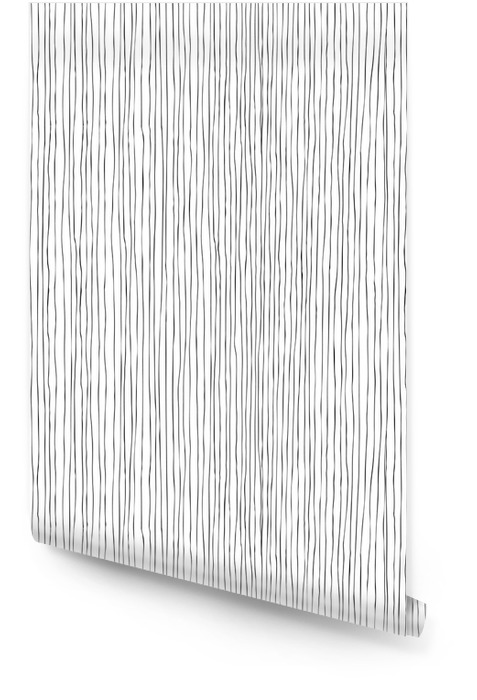 Seamless vertical lines hand-drawn pattern Wallpaper roll - Backgrounds