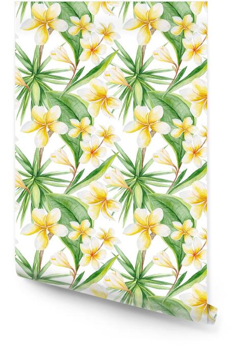 Akwarela tropikalny wzór Tapeta w rolce - Rośliny i kwiaty