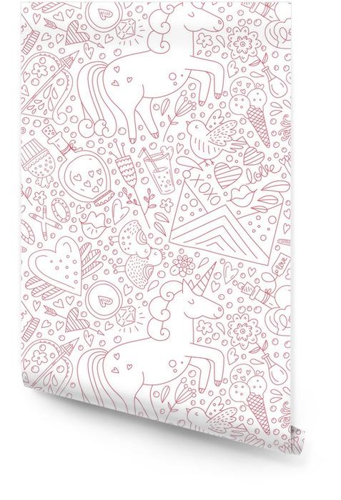 Modèle de Saint Valentin Rouleau de papier peint - Émotions et sentiments