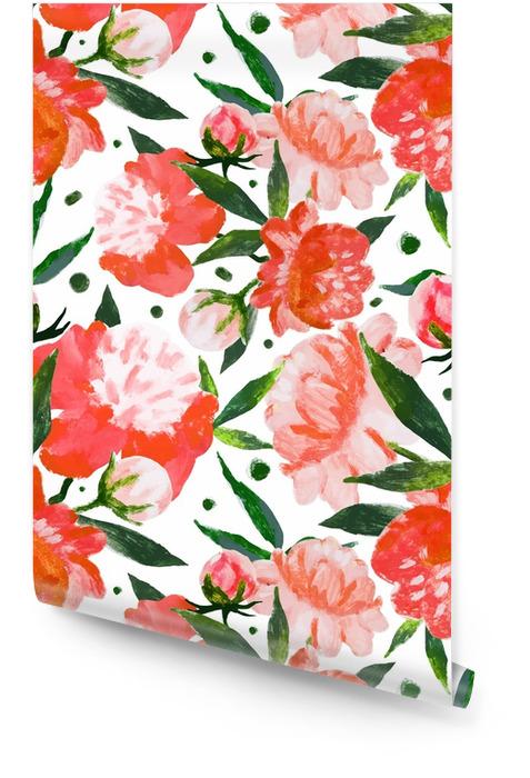 Akwarela kwiatowy wzór Tapeta w rolce - Rośliny i kwiaty