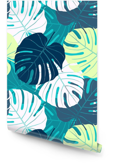 Seamless pattern with palm leaves. Wallpaper roll - Plants and Flowers