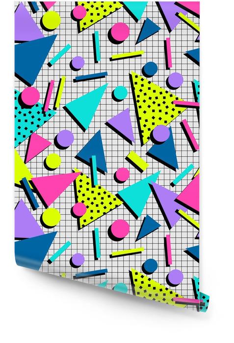 Retro modello senza cuciture degli anni '80 Rotolo di carta da parati - Risorse Grafiche