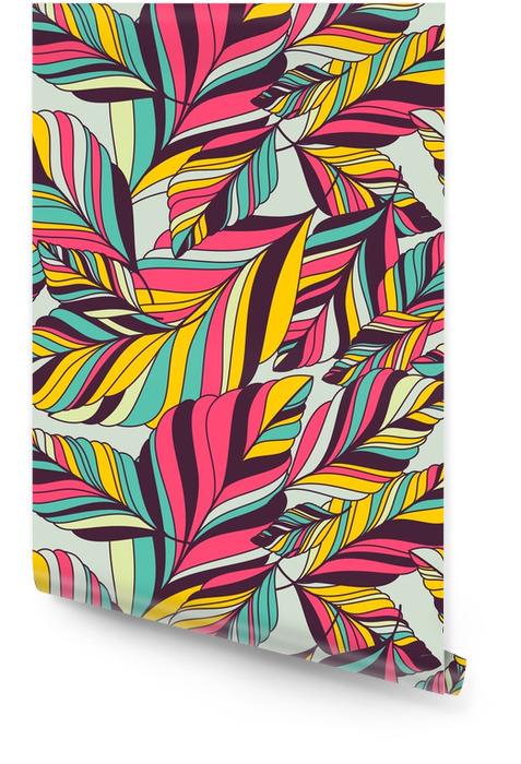 Vector seamless pattern avec la main multicolore dessinée décoratif le Rouleau de papier peint - Automne