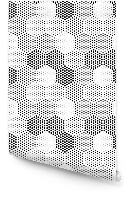 Hexagon Illusion Pattern Behangrol - Grafische Bronnen