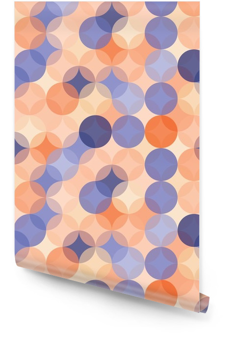 Vector modern seamless colorful geometry pattern circles , color blue orange abstract geometric background,wallpaper print, retro texture, hipster fashion design, Wallpaper roll - Graphic Resources