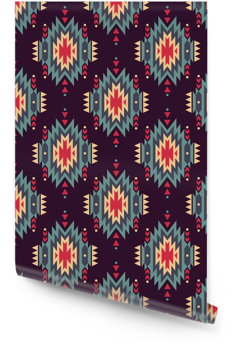 Vector nahtlose dekorativen ethnischen Muster. American Indian Motive. Hintergrund mit aztekischen Stammes-Ornament. Tapetenrolle - Grafische Elemente