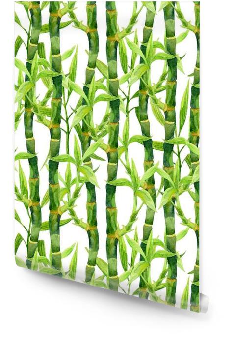 Modèle aquarelle Bamboo transparente Rouleau de papier peint - Plantes et fleurs