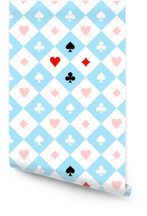 Carte costume échiquier bleu noir fond blanc illustration Rouleau de papier peint - Ressources graphiques