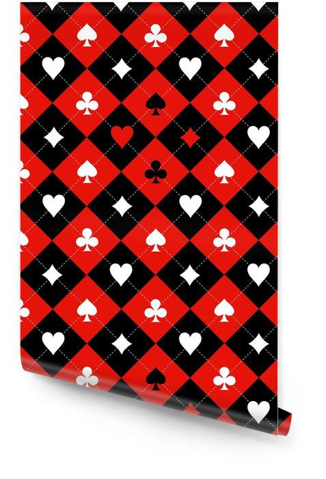 Carte costume échiquier rouge noir blanc fond illustration Rouleau de papier peint - Ressources graphiques